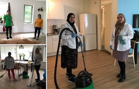 Schoonmaakactie Leger des Heils in Den Haag