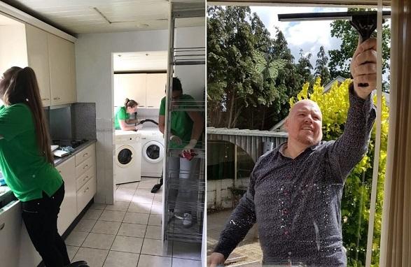 Schoonmaakactie bij oma Gonny in Odiliapeel